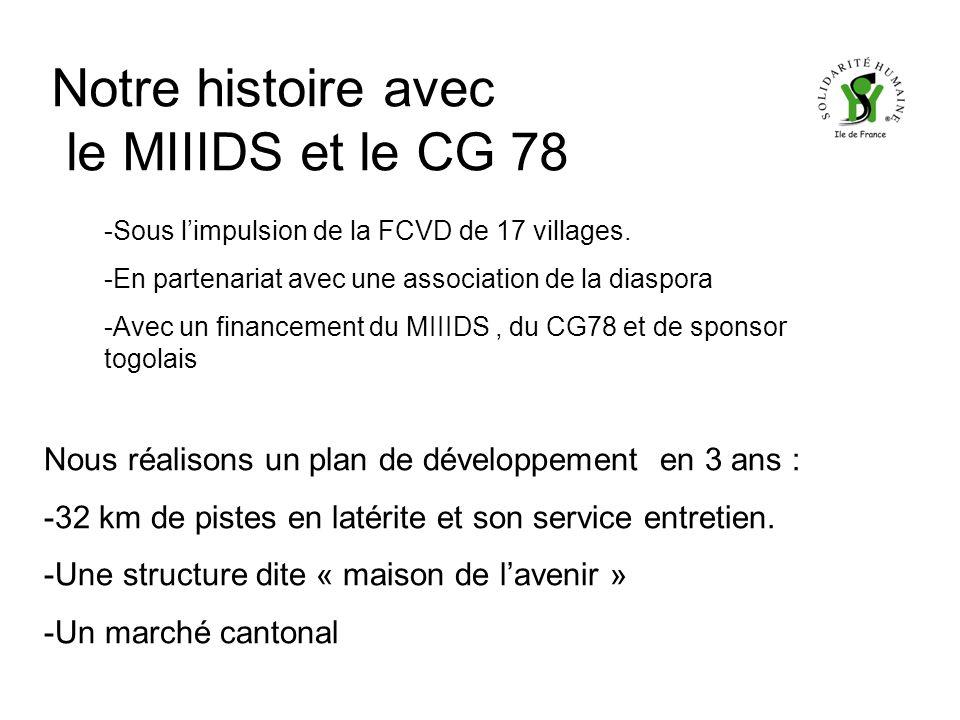 Notre histoire avec le MIIIDS et le CG 78 -Sous limpulsion de la FCVD de 17 villages.