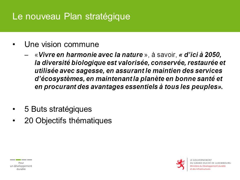 Le nouveau Plan stratégique Une vision commune –«Vivre en harmonie avec la nature », à savoir, « dici à 2050, la diversité biologique est valorisée, c