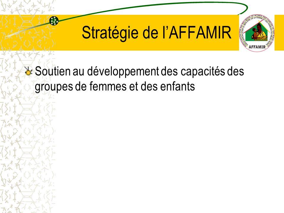 Soutien au développement des capacités des groupes de femmes et des enfants Stratégie de lAFFAMIR