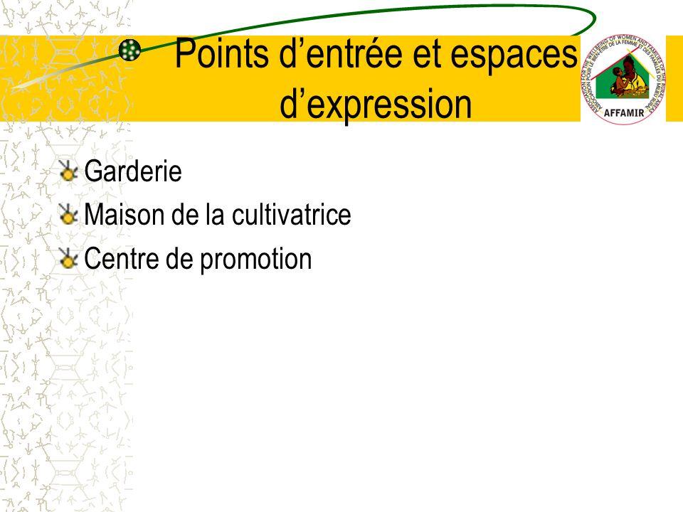 Garderie Maison de la cultivatrice Centre de promotion Points dentrée et espaces dexpression