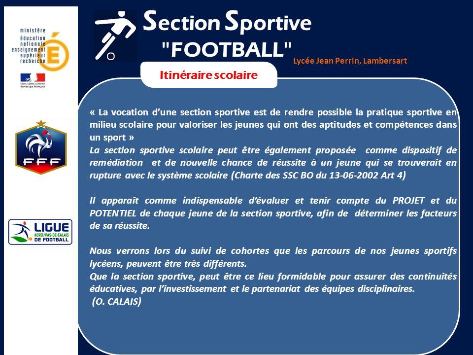 Lycée Jean Perrin, Lambersart Itinéraire scolaire « La vocation dune section sportive est de rendre possible la pratique sportive en milieu scolaire p