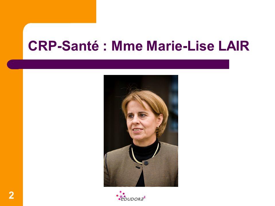 CRP-Santé : Mme Marie-Lise LAIR 2