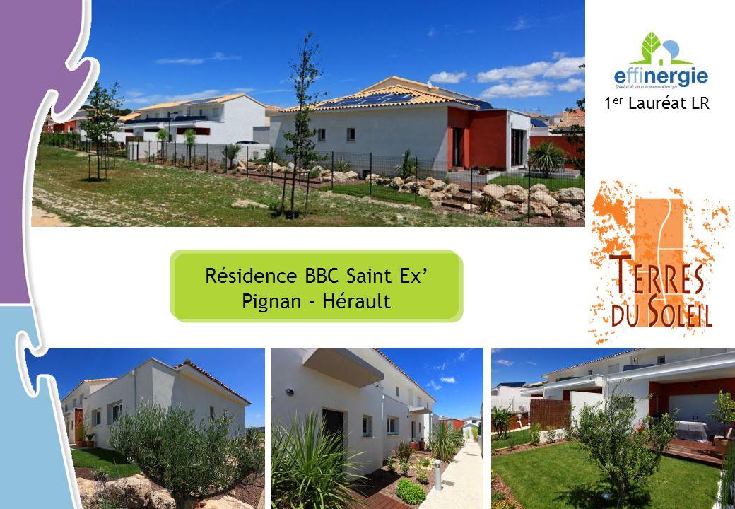 Résidence BBC Saint Ex Pignan - Hérault 1 er Lauréat LR