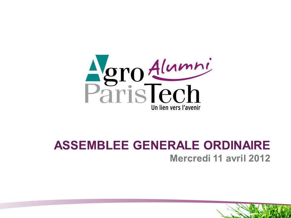 Page 1 Assemblée Générale Ordinaire - 11 avril 2012 ASSEMBLEE GENERALE ORDINAIRE Mercredi 11 avril 2012