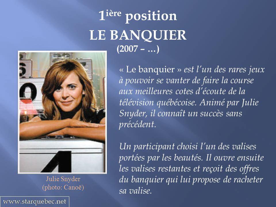 1 ière position LE BANQUIER (2007 – …) « Le banquier » est lun des rares jeux à pouvoir se vanter de faire la course aux meilleures cotes découte de l