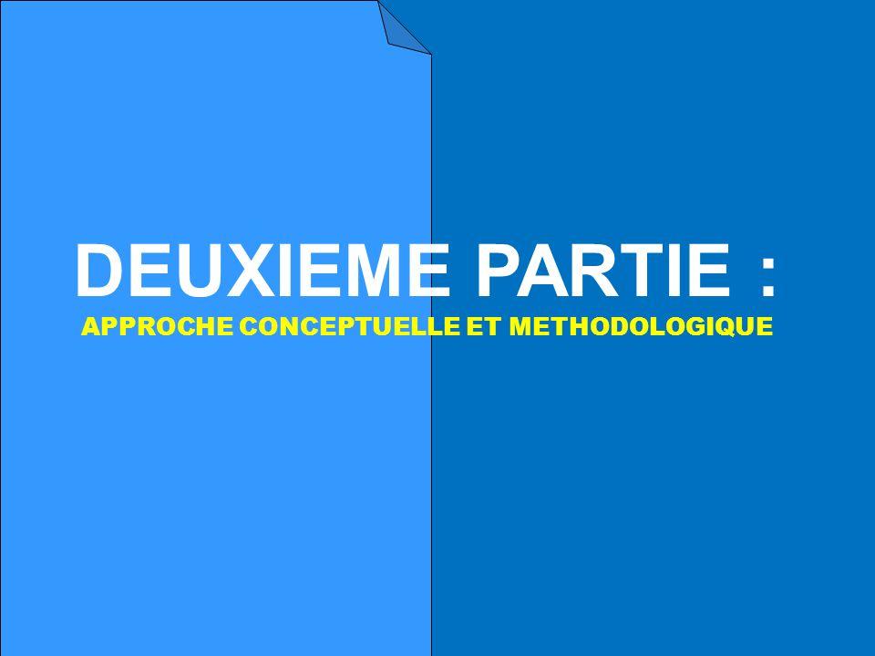 DEUXIEME PARTIE : APPROCHE CONCEPTUELLE ET METHODOLOGIQUE