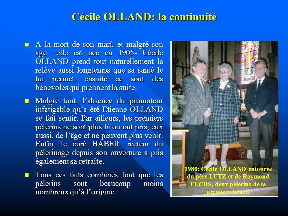 Mars 1971: décès brutal dEtienne OLLAND A quelques semaines de louverture de la saison de pèlerinage 1971, le 13 mars 1971, lannonce du décès brutal d