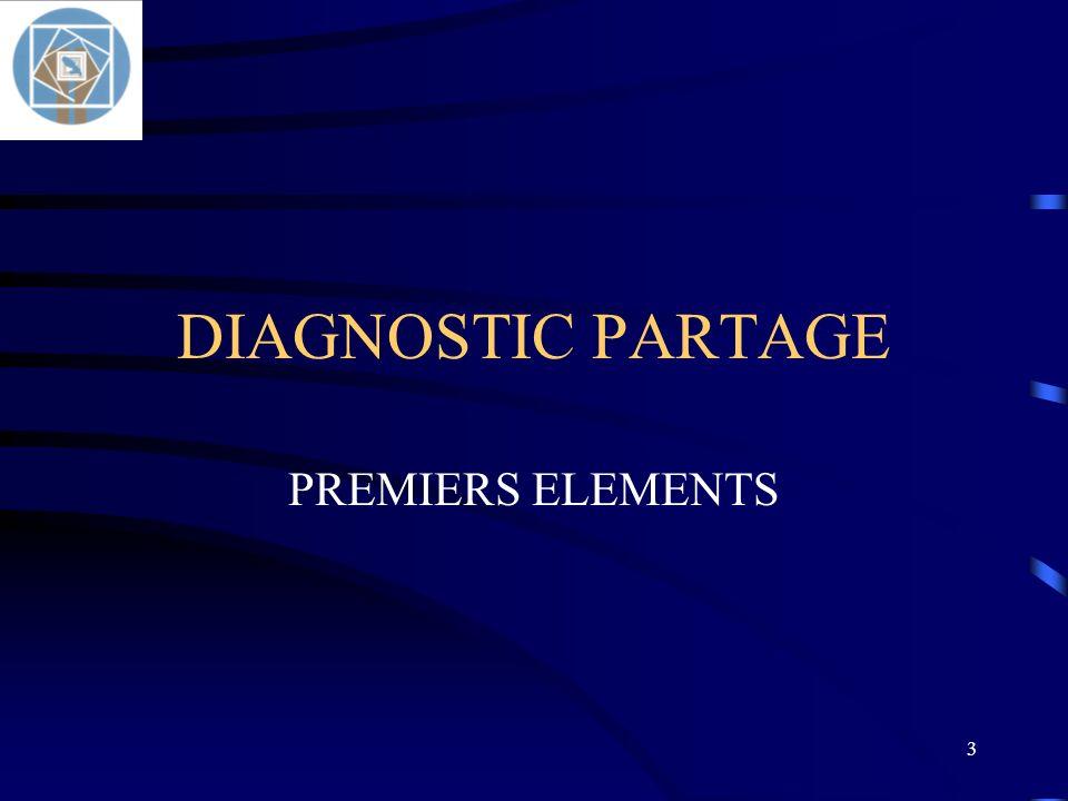 3 DIAGNOSTIC PARTAGE PREMIERS ELEMENTS