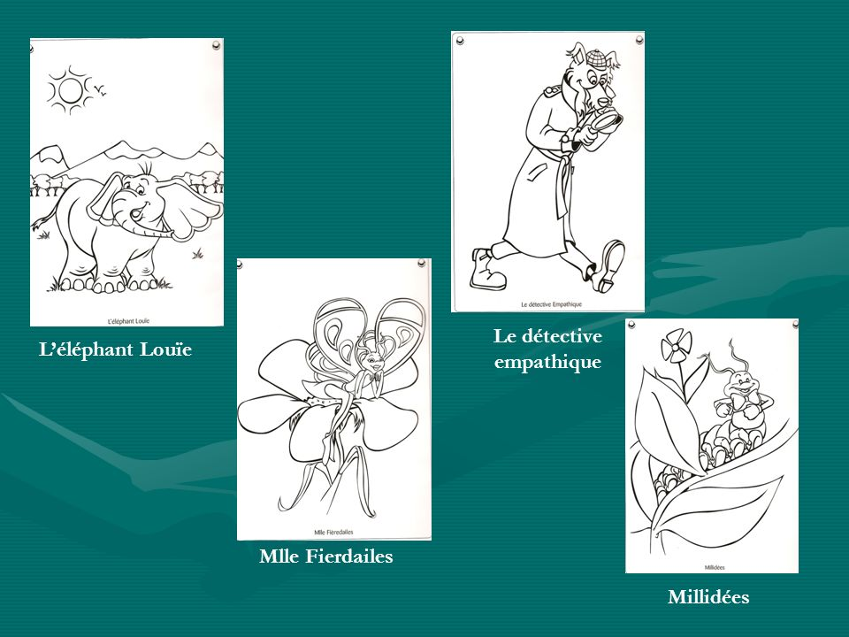 Léléphant Louïe Mlle Fierdailes Le détective empathique Millidées