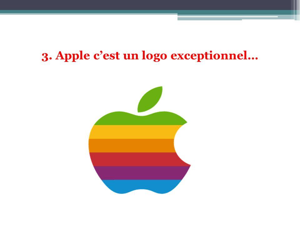 3. Apple cest un logo exceptionnel…