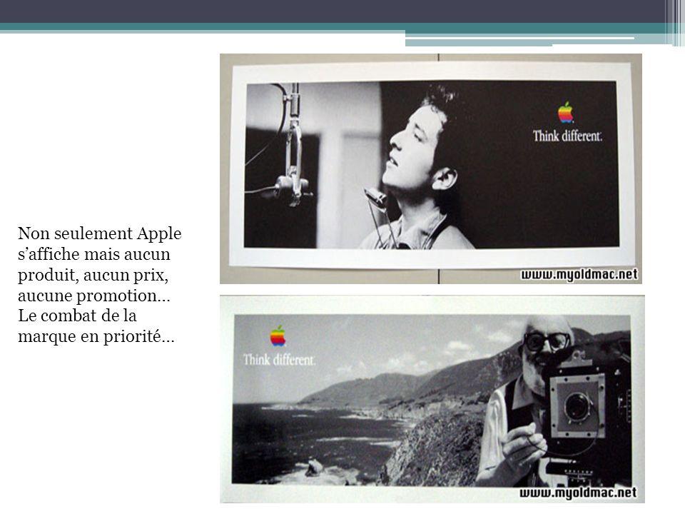 Non seulement Apple saffiche mais aucun produit, aucun prix, aucune promotion… Le combat de la marque en priorité…