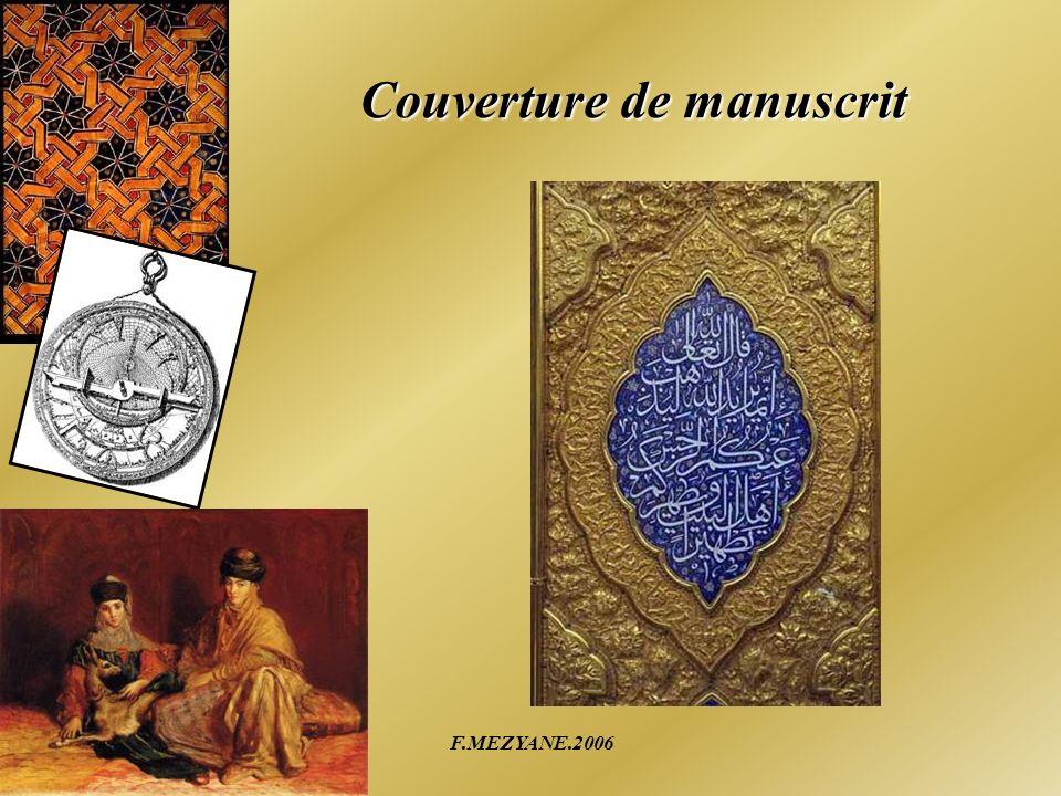F.MEZYANE.2006 Couverture de manuscrit