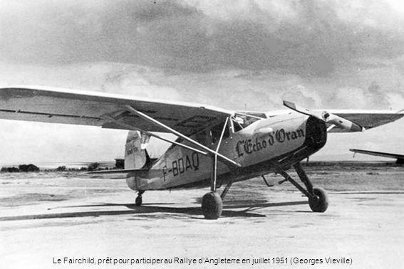 Le Fairchild, prêt pour participer au Rallye dAngleterre en juillet 1951 (Georges Vieville)