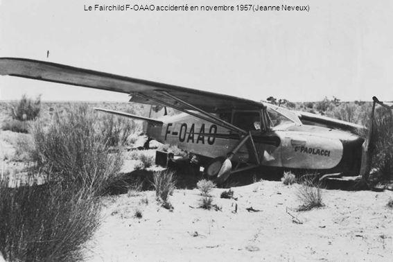 Le Fairchild F-OAAO accidenté en novembre 1957(Jeanne Neveux)