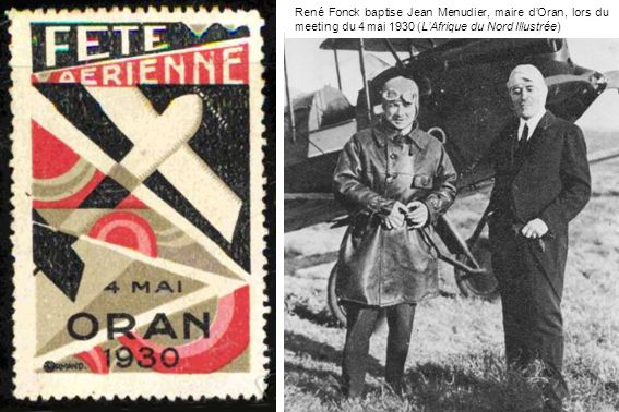René Fonck baptise Jean Menudier, maire dOran, lors du meeting du 4 mai 1930 (LAfrique du Nord Illustrée)