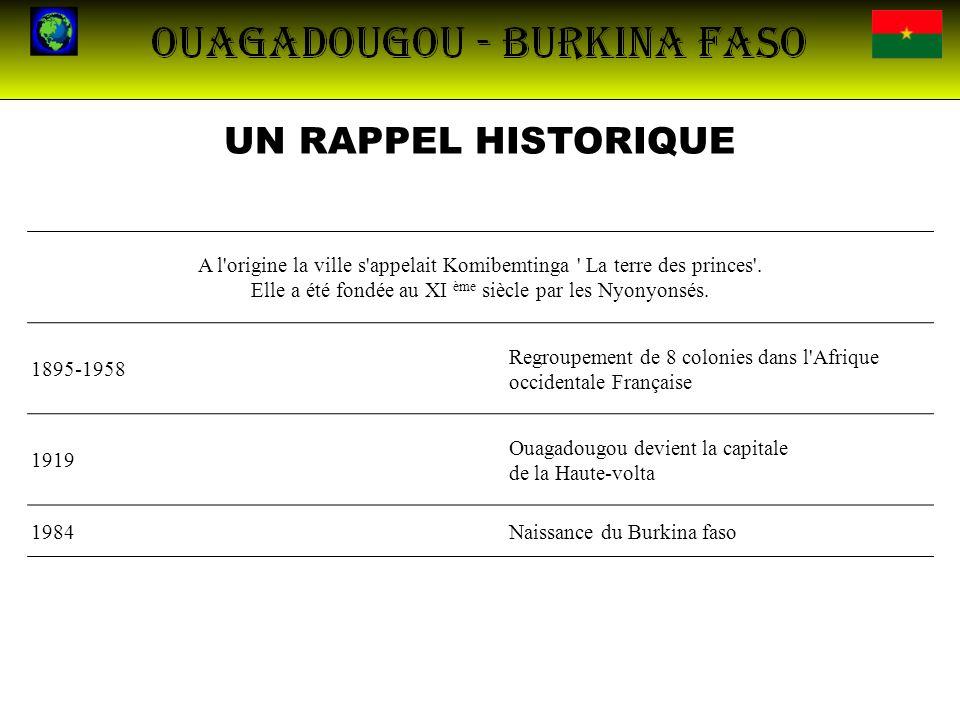 LA POPULATION Nombre d habitants du Burkina Faso16 469 000 en 2010 Habitants au km²45 habitants / km² Nombre d habitants de Ouagadougou1 475 223 en 2006 Habitants au km² de Ouagadougou 526 habitants / km² ReligionsL animisme, l islam, le christianisme Ethnies Peul au nord Bobos à l ouest Bissas et Gourmantelés à l est