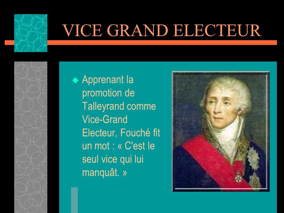 LE DIPLOMATE Lannes disait que Talleyrand pouvait recevoir un coup de pied au derrière et ne rien laisser paraître sur son visage.