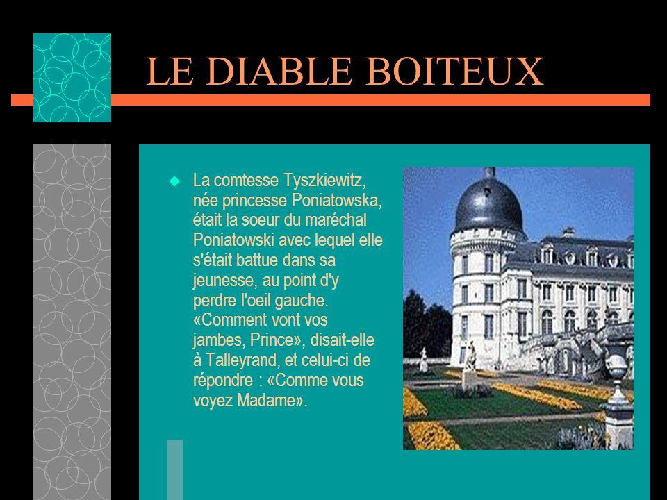 LE PIED-BOT A peine baptisé, Charles- Maurice fut confié à une nourrice qui habitait le faubourg Saint-Jacques. Un jour elle le plaça sur une commode.