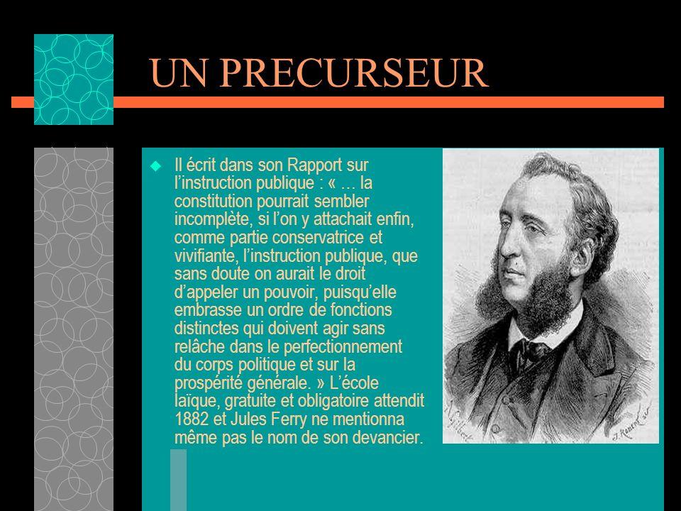 LA REVOLUTION Il fut lun des rédacteurs de la déclaration des droits de lhomme et du citoyen, notamment de larticle VI : « La loi est lexpression de l