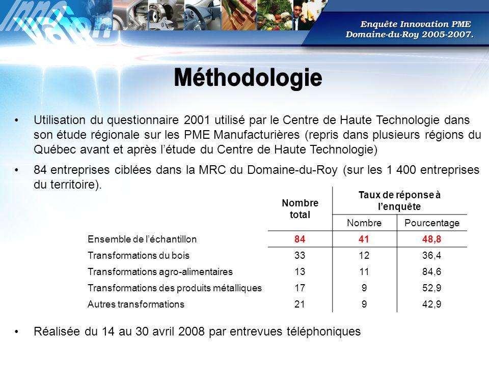 84 entreprises ciblées dans la MRC du Domaine-du-Roy (sur les 1 400 entreprises du territoire).