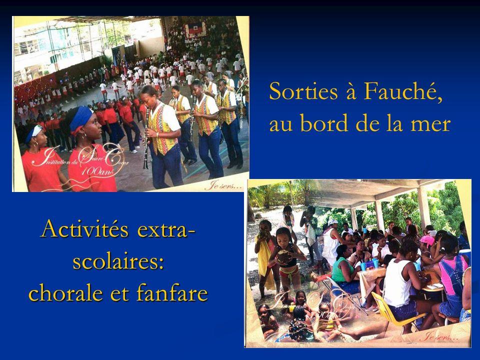 Activités extra- scolaires: chorale et fanfare Sorties à Fauché, au bord de la mer