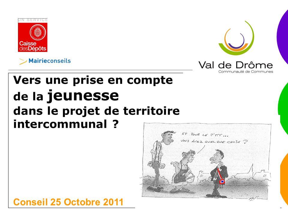 Vers une prise en compte de la jeunesse dans le projet de territoire intercommunal .