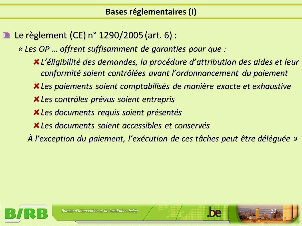 Le règlement (CE) n° 1290/2005 (art.