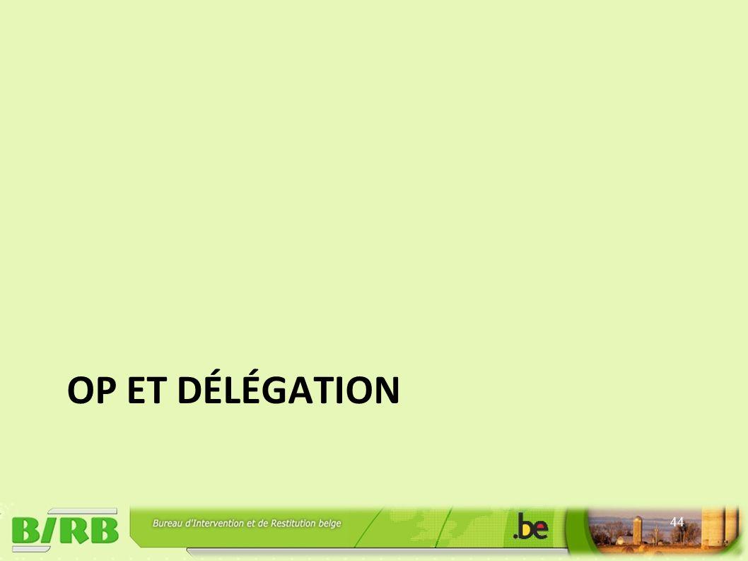 OP ET DÉLÉGATION 44