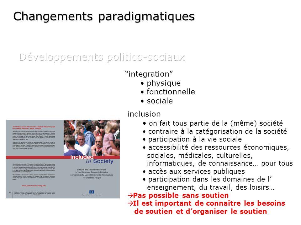 integration physique fonctionnelle sociale inclusion on fait tous partie de la (même) société contraire à la catégorisation de la société participatio