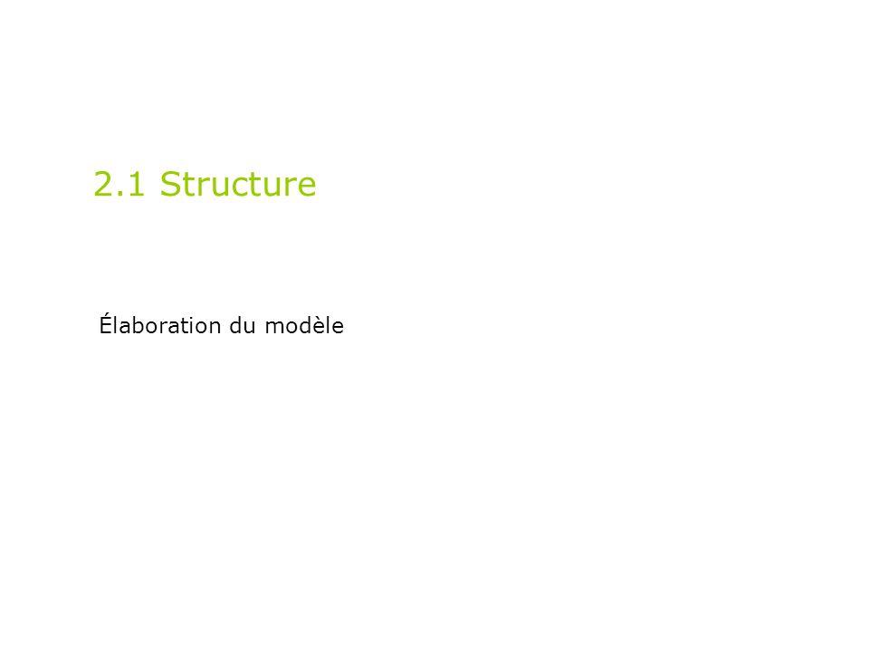 2.1 Structure Élaboration du modèle