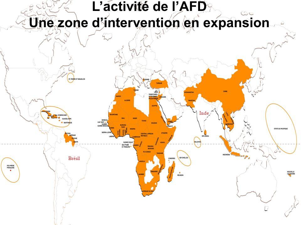 **6 Lactivité de lAFD Une zone dintervention en expansion Inde Brésil