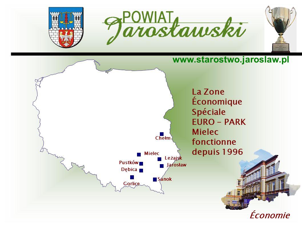 www.starostwo.jaroslaw.pl Économie Mielec Jarosław Chełm Leżajsk Pustków Dębica Sanok Gorlice La Zone Économique Spéciale EURO - PARK Mielec fonctionn