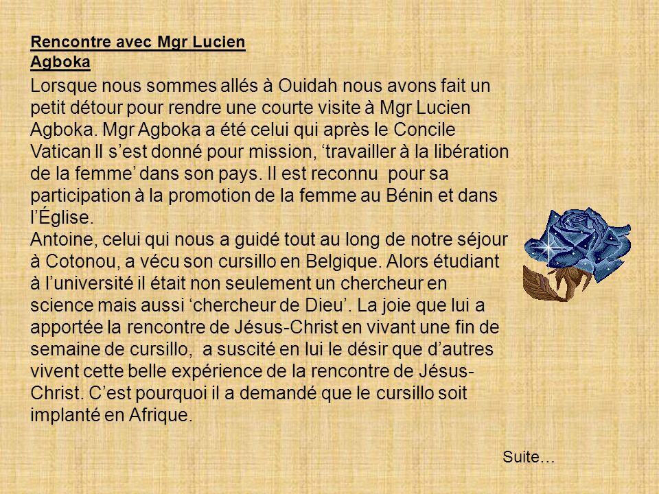 Mgr. Lucien Monsi Agboka, Évêque émérite dAbomey et Antoine. Ensemble, bâtissons lÉglise.