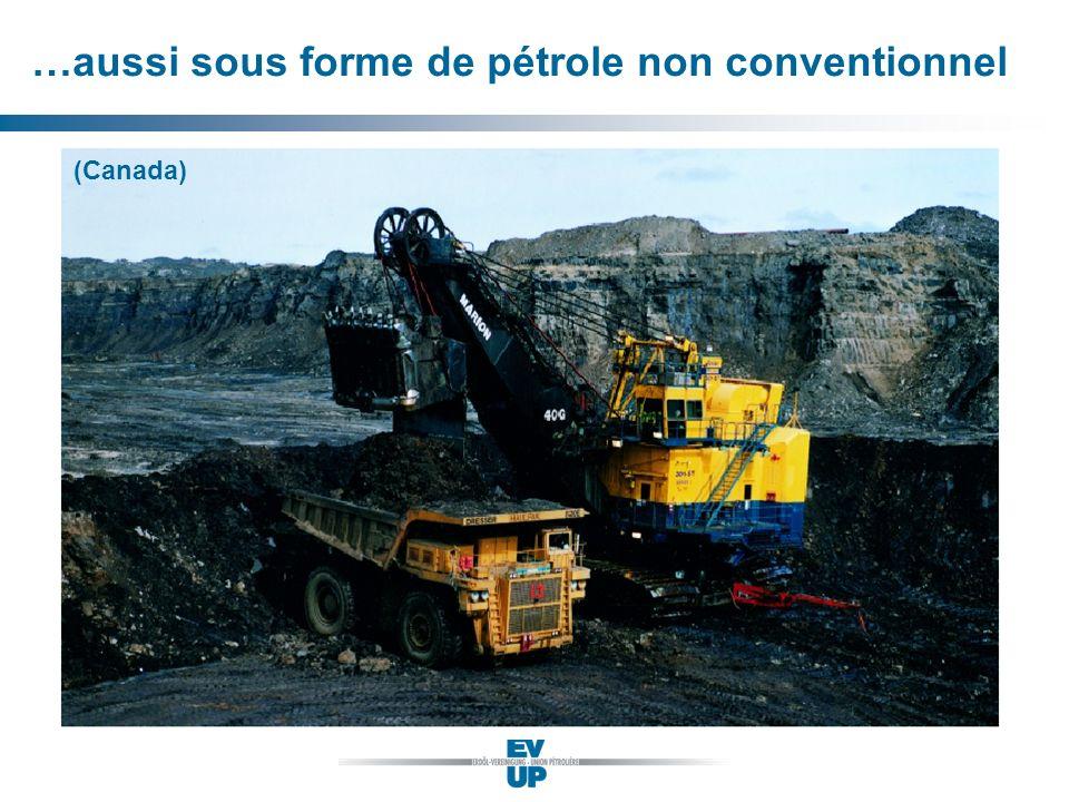 …aussi sous forme de pétrole non conventionnel (Canada)