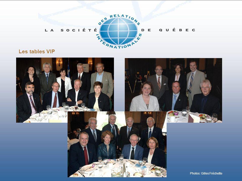 Les tables VIP Photos: Gilles Fréchette