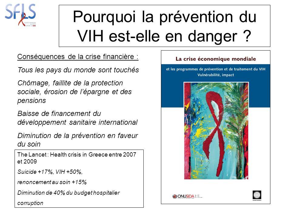 Pourquoi la prévention du VIH est-elle en danger .