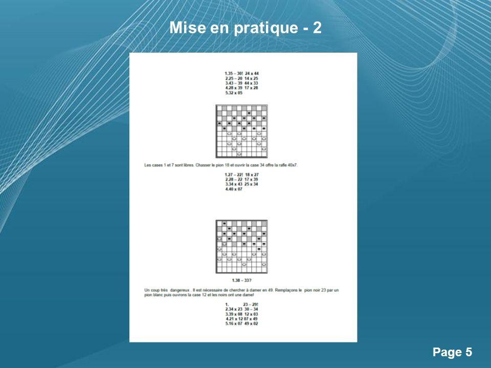 Powerpoint Templates Page 6 Mise en pratique - 3