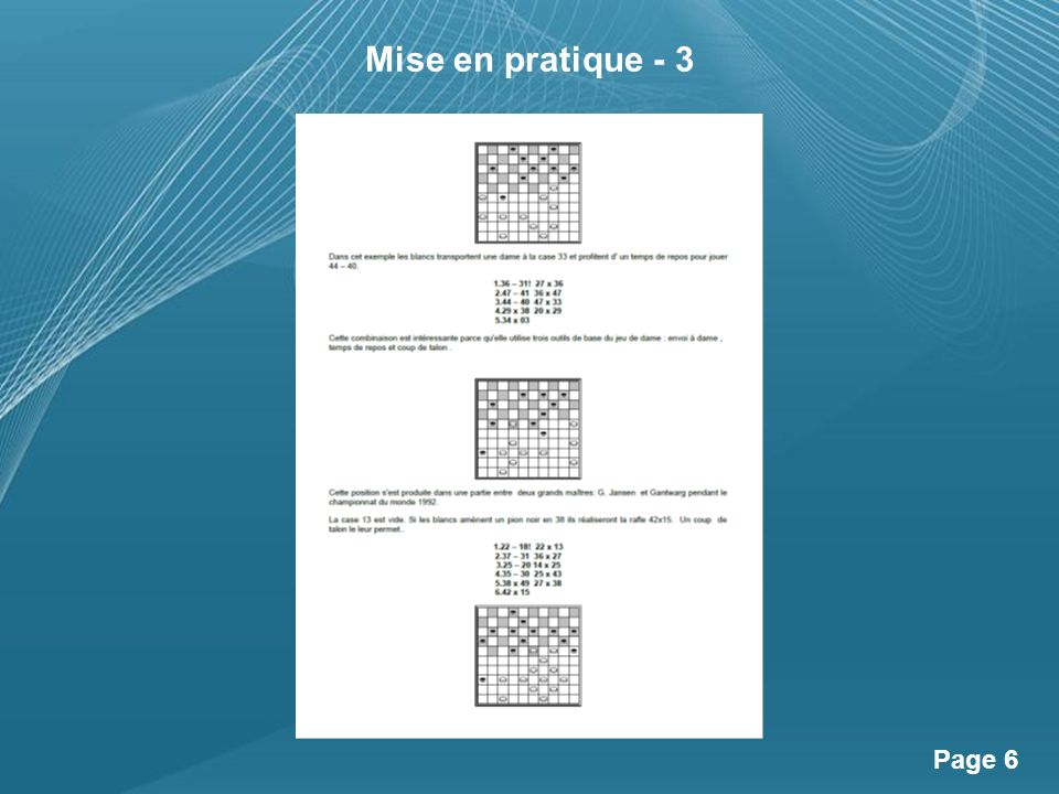 Powerpoint Templates Page 6 Mise en pratique - 3