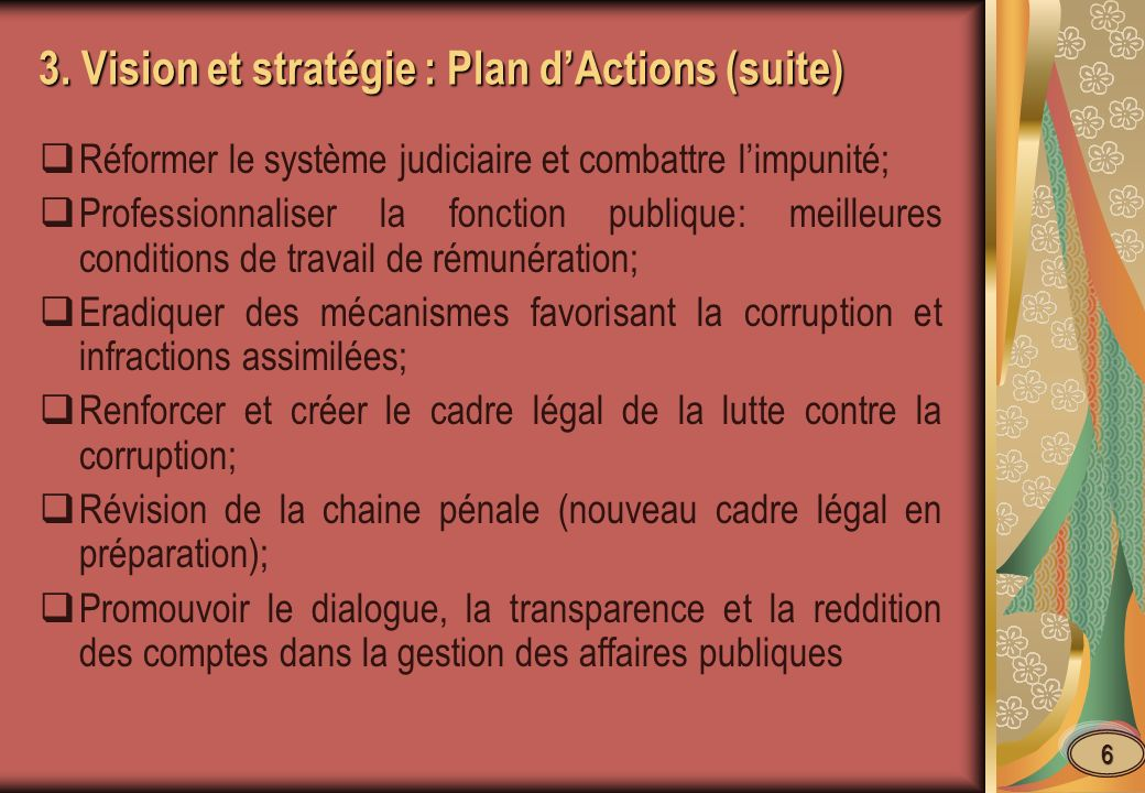 4.- Bonne Gouvernance et Effort de lutte anticorruption.