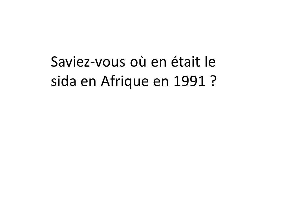 Saviez-vous où en était le sida en Afrique en 1991 ?