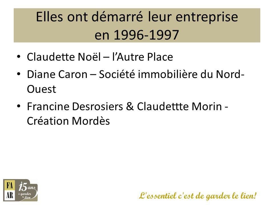 ARSENAULT Line BÉGIN Ginette Larivière BENOIT Lise Bernier Carolle D.