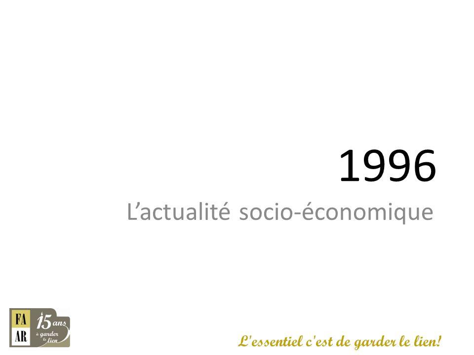 1996 Lactualité socio-économique L'essentiel c'est de garder le lien!