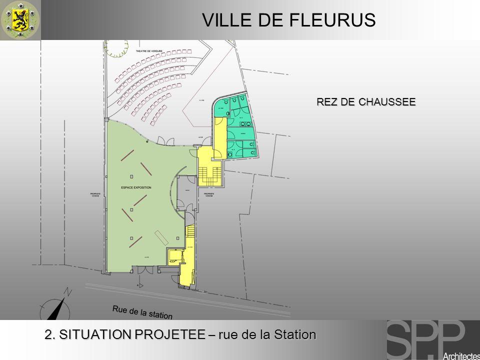 2. SITUATION PROJETEE – rue de la Station VILLE DE FLEURUS REZ DE CHAUSSEE
