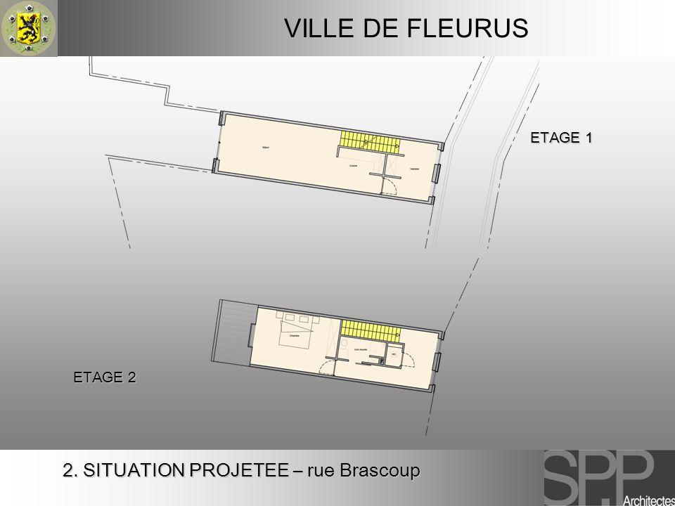 VILLE DE FLEURUS 2. SITUATION PROJETEE – rue Brascoup ETAGE 1 ETAGE 2