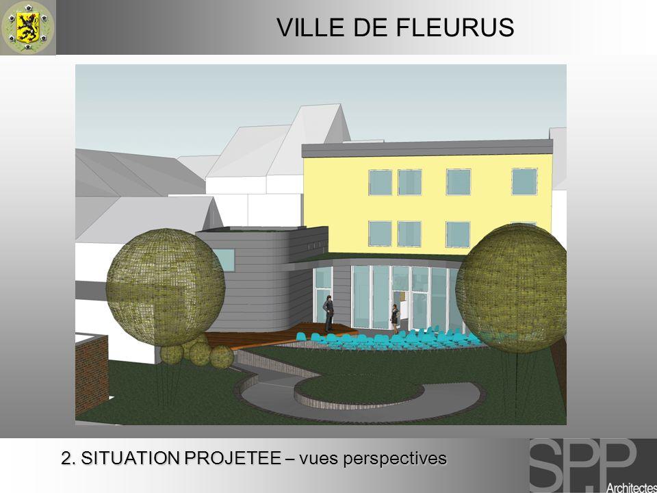 VILLE DE FLEURUS 2. SITUATION PROJETEE – vues perspectives