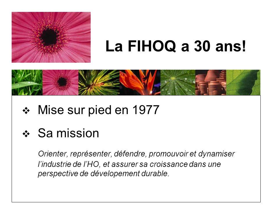 Mise sur pied en 1977 Sa mission Orienter, représenter, défendre, promouvoir et dynamiser lindustrie de lHO, et assurer sa croissance dans une perspective de dévelopement durable.