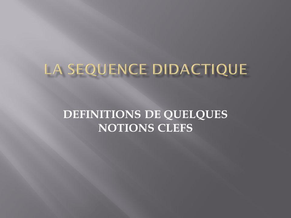 DEFINITIONS DE QUELQUES NOTIONS CLEFS