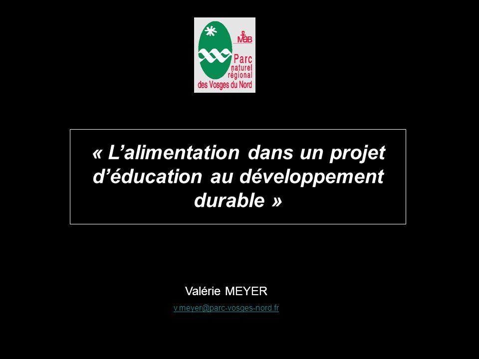 Alimentation .Vous avez dit éducation . Le développement durable, un projet de société .