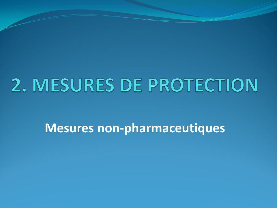 Mesures non-pharmaceutiques