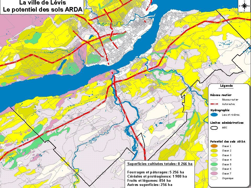 É léments de contexte 2Une zone agricole limitée 2Une agriculture essentiellement périurbaine 2Une urbanisation qui gruge les meilleurs sols 2Évolution des superficies urbanisées Direction régionale de Québec  Capitale-Nationale Janvier 2003